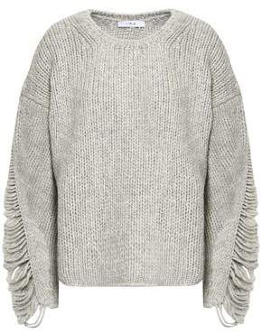 IRO Distressed Ribbed Wool-blend Sweater