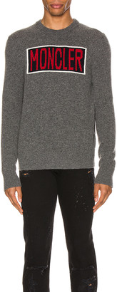 Moncler Knit Crewneck Sweater in Grey | FWRD