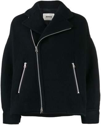 Zucca oversized zip-up jacket
