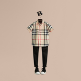 Burberry Short-sleeve Check Cotton Twill Shirt