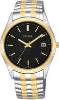 Pulsar Men's Two-Tone Stainless Steel Stainless Steel Expansion Bracelet Watch 37mm PXH428