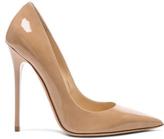 Jimmy Choo Anouk 120 Patent Leather Pump in Nude | FWRD