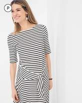 Chico's Striped Tie-Front Tee