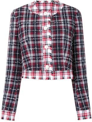 Thom Browne Tweed Checked Jacket