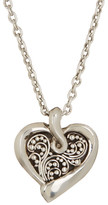 Lois Hill Sterling Silver Small Granulated Heart Pendant Necklace