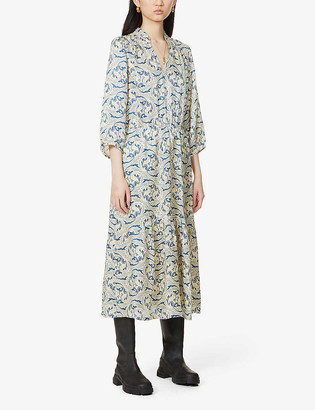 BA&SH Song paisley-print woven midi dress
