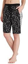 DKNY Lace-Print Colorblocked Jersey Bermuda Lounge Shorts