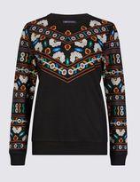 Marks and Spencer Embroidered Yoke Sweatshirt