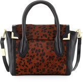 Foley + Corinna Frankie Calf-Hair Flap Satchel Bag, Leopard