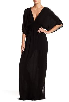 Love Stitch Gauze Kimono Maxi Dress