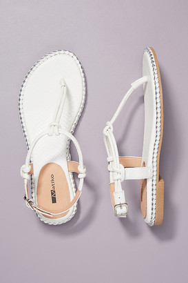 Matiko Faye Braided Sandals By in White Size 36