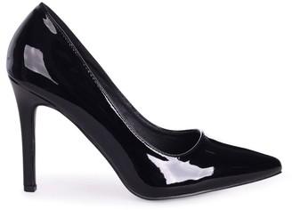 Linzi COLETTE - Black Patent Classic Court Shoe with Stiletto Heel