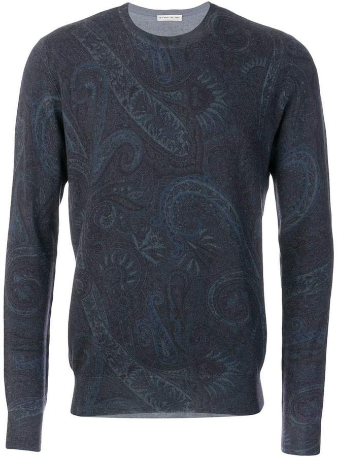 Etro paisley patterned jumper