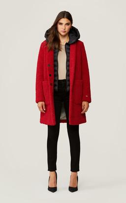 Soia & Kyo KELLI teddy coat with detachable puffer bib and hood
