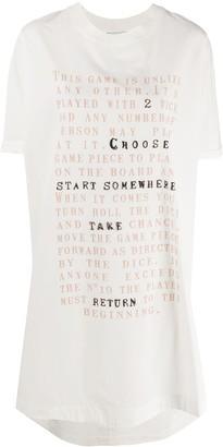 Alysi slogan-print long T-shirt