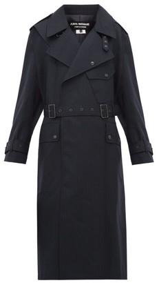 Junya Watanabe Contrast-panel Wool Trench Coat - Navy Multi