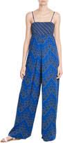 Diane von Furstenberg Silk Jersey Printed Jumpsuit