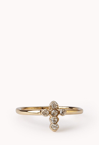 Forever 21 Touch-of-Glam Cross Midi Ring