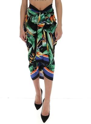 Dolce & Gabbana Printed Draped Skirt