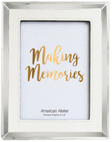 """Jay Import Leatherette White Picture Frame - 4.75\""""x6.75\"""""""