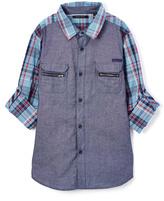Sean John Indigo Plaid Button-Up - Toddler & Boys