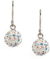 Cezanne Crystal Ball Drop Wire Earrings