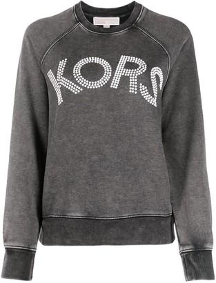 MICHAEL Michael Kors Faded Logo Embellished Sweatshirt