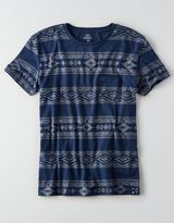 American Eagle AEO Print Pocket Crew T-Shirt