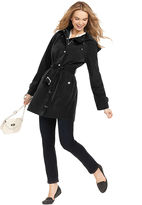 London Fog Coat, Hooded Belted Raincoat