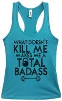 "Little Royaltee Shirts Cute Workout Tanks - ""What Doesnt Kill Me Make Me A Bad Ass"" Gym Royaltee Shirts, Tahiti"