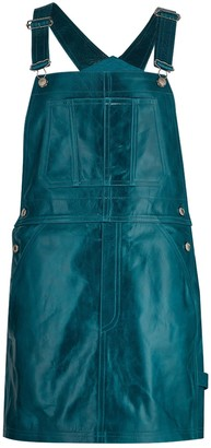 Parker Leather Dungaree Dress - Deep Lake