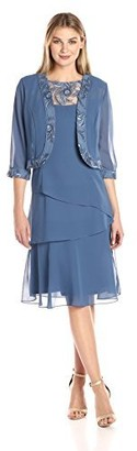 Le Bos Women's Tiered Jacket Dress