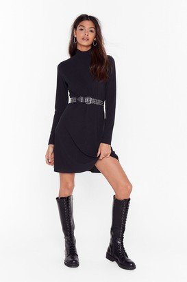 Nasty Gal Womens Swing My Way High Neck Mini Dress - Black - 6