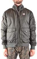 Aeronautica Militare Men's Green Polyester Outerwear Jacket.