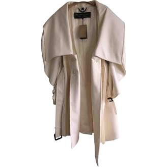 Burberry White Wool Trench coats