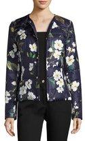 Escada Magnolia-Print Puffer Jacket, Fantasy
