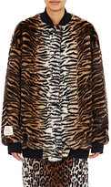 Stella McCartney Women's Faux-Fur Bomber Jacket-BLACK