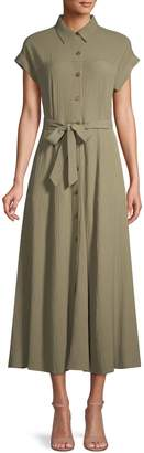 Calvin Klein Short-Sleeve Maxi Shirtdress