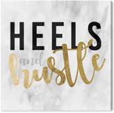 Oliver Gal Heels And Hustle Gold Canvas Art