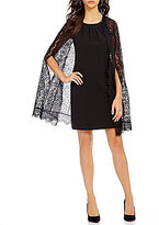 Jessica Simpson Lace Capelet Sheath Dress