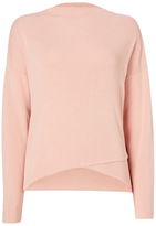 Tu clothing Pink Cross-Front Compact Jumper