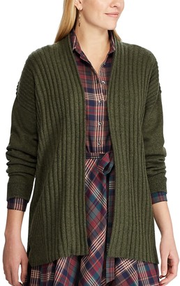 Chaps Women's Ribbed Open-Front Cardigan