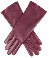 Black Burgundy Cashmere Lined Leather Gloves