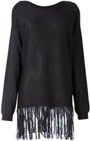 Sara Lanzi fringed jumper - women - Silk - M