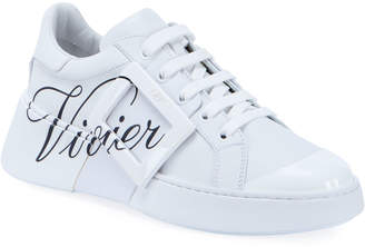 Roger Vivier Viv' Skate Call Me Vivier Printed Sneakers
