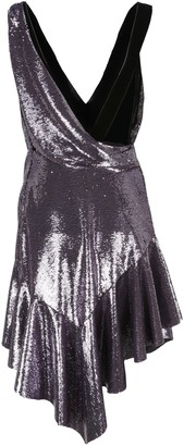 Philosophy di Lorenzo Serafini Sequin Plunge Mini Dress
