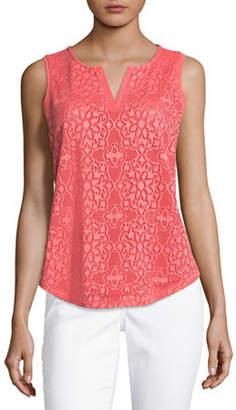 Liz Claiborne Lace Front Knit Tank Top