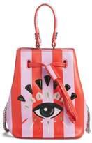 Kenzo Mini Embroidered Eye Leather Bucket Bag
