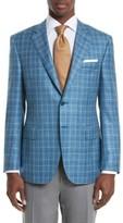 Canali Men's Classic Fit Plaid Wool Blend Sport Coat
