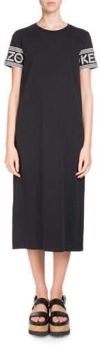 Kenzo Crewneck Short-Sleeve Midi T-Shirt Dress